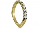 טבעת יהלומים משובצת  9 יהלומים טבעת בעיצוב מיוחד זהב צהוב