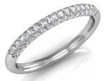 טבעת יהלומים משובצת מכול הצדדים יהלומים מודל 8