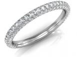 טבעת אינפיניטי טבעת משובצת 97 יהלומים