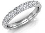 טבעת יהלומים משובצת יהלומים דגם 5