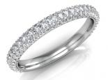 טבעת יהלומים משובצת מכול הצדדים יהלומים מודל 6