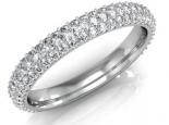 טבעת יהלומים אינפינטי 3 שורות יהלומים דקות