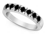 טבעת יהלומים שחורים גדולים
