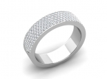 טבעת יהלומים רחבה