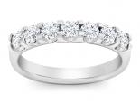 טבעת יהלומים 7 יהלומים גדולים בשיבוץ מרחף