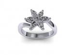 טבעת יהלומים בצורת פרח יהלום מרקיזה