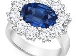 טבעת דיאנה יוקרתית 5 קארט אבן חן אמרלד רובי ספיר