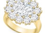 טבעת דיאנה יוקרתית 5 קארט אבן מרכזית