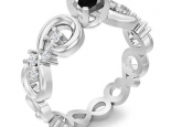 טבעת וינטז יהלום שחור