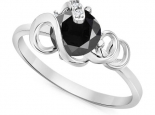 טבעת בעיצוב מיוחד יהלום שחור