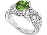טבעת יהלומים יוקרתית אבן חן יקרה אמרלד ברקת רובי ספיר 1 קארט