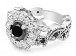 טבעת יהלומים יוקרתית יהלום שחור