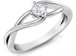 טבעת אירוסין מעוצבת 1 קרט