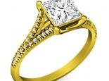 טבעת יהלום מרובע בעיצוב יוקרתי
