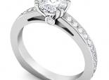 טבעת אירוסין אפשרות לסט תואם עם טבעת יהלומים