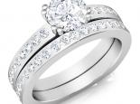 טבעת אירוסין וטבעת נישואין קלאסיות סט מושלם