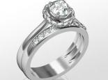 סט מושלם לאירוסין ונישואין טבעת משולבת זהב ויהלומים