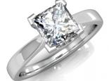 טבעת אירוסין יהלום פרינסס גדול