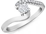 טבעת אירוסין מסובבת עיצוב מיוחד