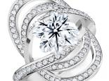 טבעות מעוצבות יהלומים יהלום מרכזי בליטוש פרח