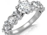 טבעת יהלומים בעיצוב מיוחד עם יהלום 1/2 קארט מרכזי