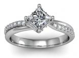 טבעת מסובבת יהלום מרובע