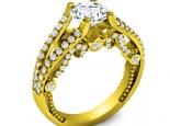 טבעות יהלומים מעוצבות חצי קרט יהלום מרכזי