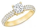 טבעת יהלום יוקרתית 30 נקודות מרכזית