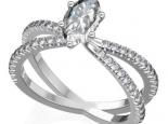 טבעת יהלומים מיוחדת יהלום מרכזי מרקיזה