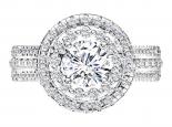 טבעת אירוסין HOLO- חצי קראט מרכזית
