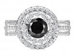 טבעת HOLO עם יהלום שחור