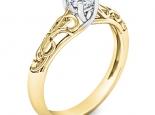 טבעת אירוסין וינטג טבעות זהב לנשים