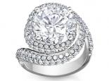 טבעת יהלומים מעוצבת יהלום 1 קארט