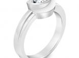 טבעת יהלום מעוצב פרח