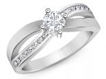 טבעת אירוסין קשתות שמחזיקות רבע קרט יהלום