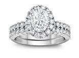 2 טבעות יהלומים טבעת אירוסין 1 קארט וטבעת נישואין תואמת