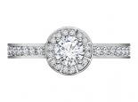 טבעת אירוסין יהלום 30 נקודות שסביבו יהלומים