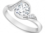טבעת יהלום טוויסט חצי קארט יהלום