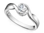 טבעות אירוסין מיוחדות טבעת מסובבת עם יהלום מרכזי