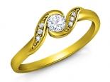 טבעת יהלום מסובבת טבעת עדינה ומיוחדת טבעת זהב צהוב