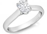 טבעת יהלום בצורת אובל