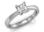 טבעת יהלום קלסית יהלום מרובע יהלום פרינסס חצי קארט
