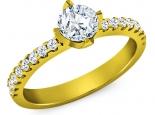 טבעת יהלום קלסית 30 נקודות