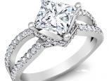 טבעת ליהלום מרובע גדול קרט