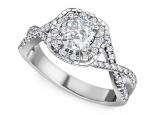 טבעות אירוסין מיוחדות טבעת קשתות מרשימה ומיוחדת 70 נקודות יהלום מרכזי