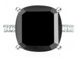 טבעת יהלום שחור גבוה