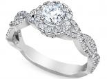 טבעת אירוסין בעיצוב קשתות