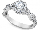 טבעת אירוסין משולבת טוויסט והולו