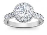 טבעת להצעת נישואין יהלום מרכזי רבע קרט סביבו יהלומים
