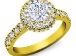 טבעת להצעת נישואין יהלום מרכזי 30 נקודות סביבו יהלומים